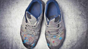 Remove Dry Paint from Shoes