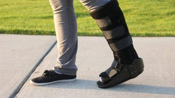 walking on a broken foot with a boot